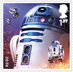 Star Wars - Droids and Aliens 1st Stamp (2017) R2-D2
