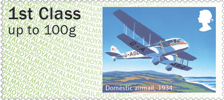 Post & Go : Royal Mail Heritage : Mail by Air 1st Stamp (2017) Domestic airmail, 1934