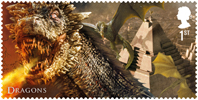 Game of Thrones 1st Stamp (2018) Dragons