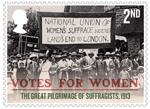 Votes For Women 2nd Stamp (2018) The Great Pilgramage of Suffragists, 1913