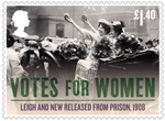 Votes For Women £1.40 Stamp (2018) Leigh and New Released from Prison, 1908
