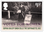 Votes For Women £1.57 Stamp (2018) Sophia Duleep Singh sells the Suffragette
