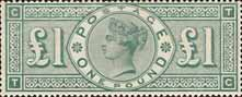 Definitive £1 Stamp (1891) green