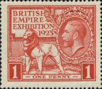 British Empire Games 1925 1d Stamp (1925) Red
