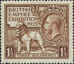 British Empire Games 1925 1.5d Stamp (1925) Brown