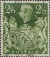 Definitives 2s6d Stamp (1939) Yellow Green