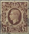 Definitives £1 Stamp (1939) Brown