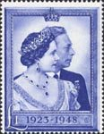Royal Silver Wedding �Stamp (1948) King George VI and Queen Elizabeth