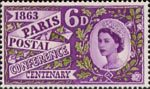 Paris Postal Conference Centenary 6d Stamp (1963) Paris Conference