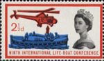Ninth International Lifeboat Conference, Edinburgh 2.5d Stamp (1963) Rescue at Sea