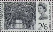 900th Anniversary of Westminster Abbey 2s6d Stamp (1966) Fan Vaulting, Henry VII Chapel
