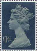 Definitive £1.41 Stamp (1985) drab and deep greenish blue