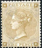 Definitive 9d Stamp (1862) Bistre