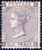 Definitive 6d Stamp (1862) Deep Lilac