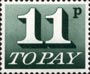 Decimal To Pay Labels - Postage Due 1970-1975 11p Stamp (1970) Slate Green
