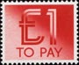 To Pay Labels �1.00 Stamp (1982) To Pay �1.00
