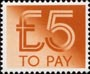 To Pay Labels �5.00 Stamp (1982) To Pay �5.00