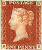 Definitive 1d Stamp (1841) Penny Red