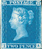 Definitive 2d Stamp (1841) Two Penny Blue