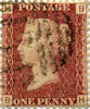 Definitives 1d Stamp (1854) Red-brown