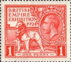 British Empire Exhibition 1924 1d Stamp (1924) Red