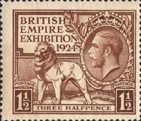 British Empire Exhibition 1924 1.5d Stamp (1924) Brown