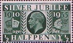 Silver Jubilee 0.5d Stamp (1935) Green