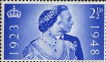Royal Silver Wedding 2.5d Stamp (1948) King George VI and Queen Elizabeth