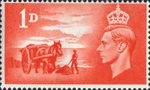 Channel Islands Liberation 1d Stamp (1948) Scarlet