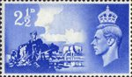 Channel Islands Liberation 2.5d Stamp (1948) Ultramarine