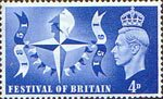 Festival of Britain 4d Stamp (1951) Festival Symbol