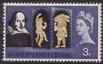 Shakespeare Festival 3d Stamp (1964) Puck and Bottom (A Midsommer Night's Dream)