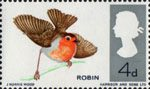 British Birds 4d Stamp (1966) European Robin