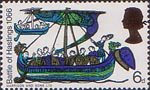 900th Anniversary of Battle of Hastings 6d Stamp (1966) Norman Ship