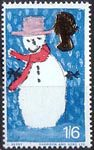 Christmas 1s6d Stamp (1966) Snowman