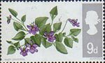 British Flora 9d Stamp (1967) Dog Violet