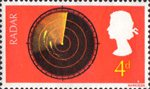 British Discovery 4d Stamp (1967) Radar Screen