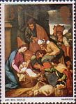 Christmas 3d Stamp (1967) 'The Adoration of the Shepherds' (School of Seville)