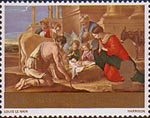 Christmas 1s6d Stamp (1967) 'The Adoration of the Shepherds' (Loius Le Nain)