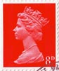 Definitive 8d Stamp (1968) Vermillion