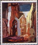 British Paintings 1s6d Stamp (1968) 'Ruins of St Mary Le Port' (Piper)