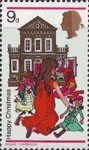 Christmas 9d Stamp (1968) Girl with Doll's House