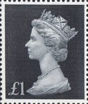 High Value Definitives �1 Stamp (1969) black