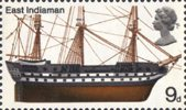 British Ships 9d Stamp (1969) East Indiaman