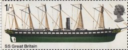 British Ships 1s Stamp (1969) Great Britain