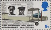Notable Anniversaries 5d Stamp (1969) Page from the Daily Mail, and Vickers FB-27 Vimy Aircraft