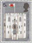 Investure of H.R.H. The Prince of Wales 5d Stamp (1969) The King's Gate, Caernarvon Castle