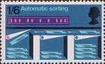 British Post Office Technology 1s6d Stamp (1969) Postal Mechanisation - Automatic Sorting