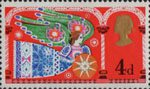 Christmas 1969 4d Stamp (1969) Herald Angel
