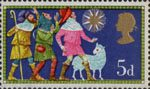 Christmas 1969 5d Stamp (1969) The Three Shepherds